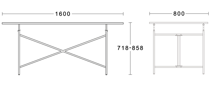 アイアーンマンテーブル2のサイズ