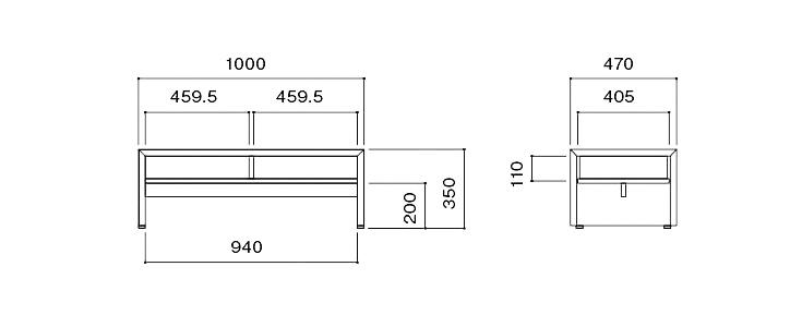 FRC-100 リビングテーブル 詳細6