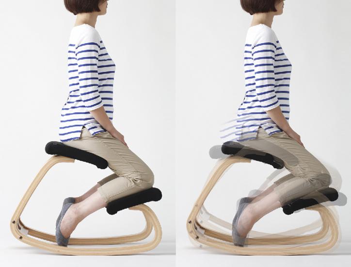 正しい姿勢へ導くバランスチェア