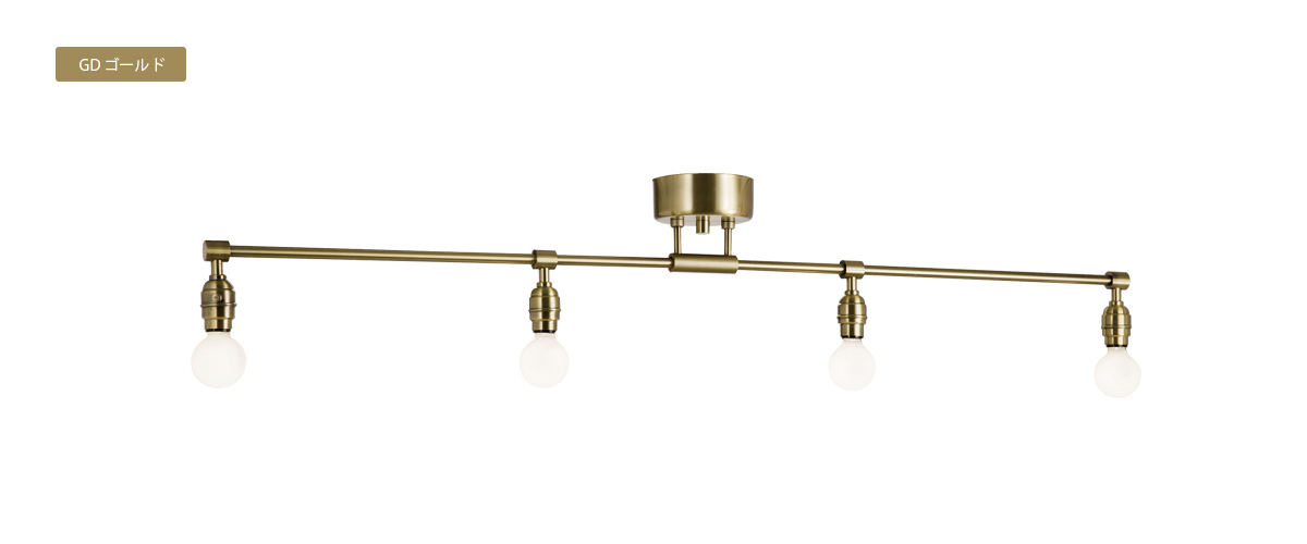 AW-0460 Laiton 4 ceiling lamp GD