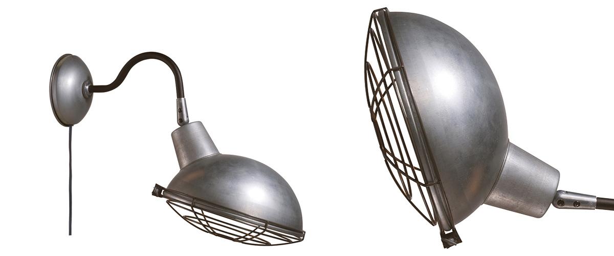 AW-0478 Jail wall lamp ME メタル