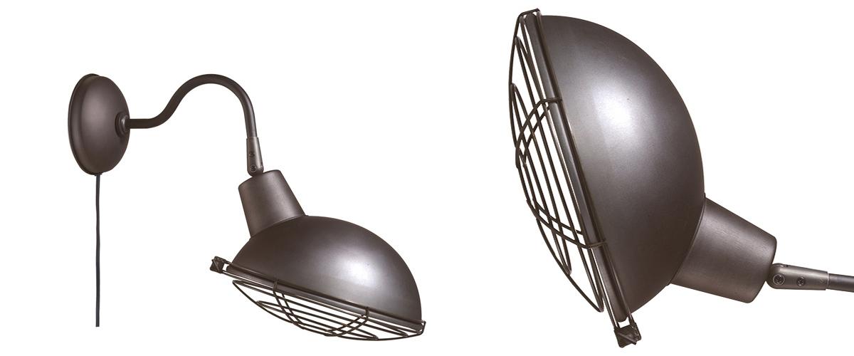 AW-0478 Jail wall lamp V/ME ビンテージメタル