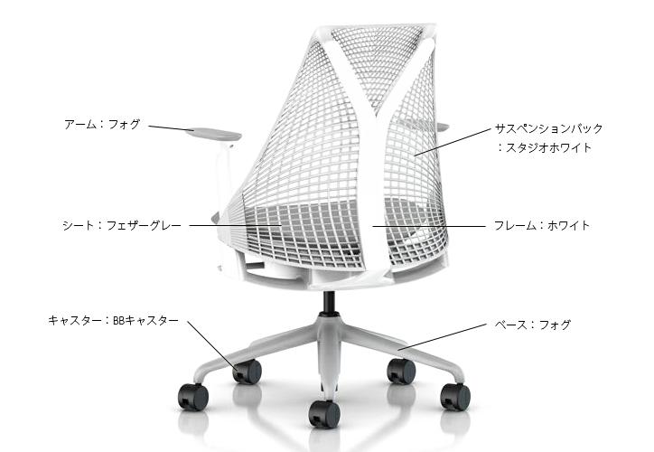 セイルチェア ホワイト フォグ 詳細2