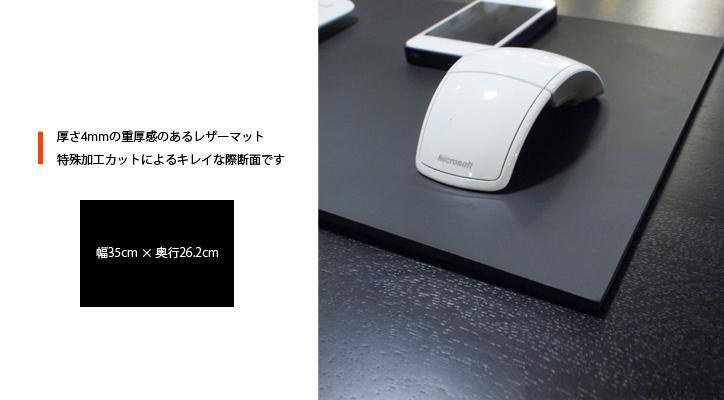 レザーデスクマット(S) BK2