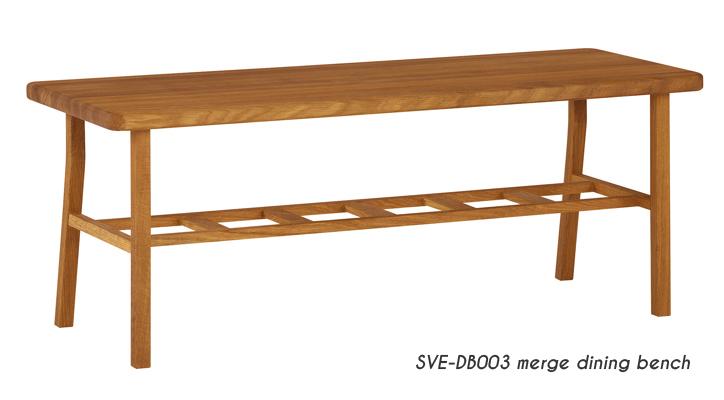 SVE-DB003 merge dining bench 2