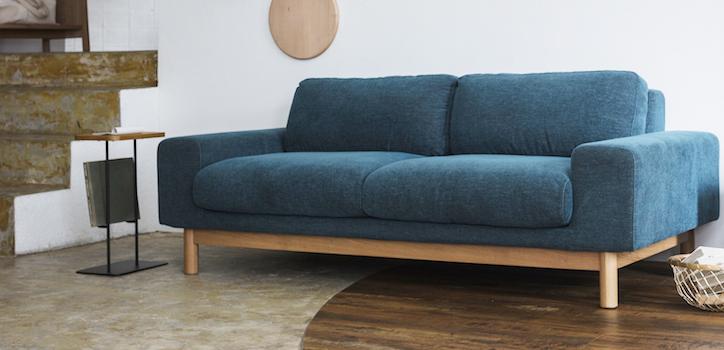 背の低さが魅力 SVE-SF012 bulge sofa (バージュソファ)