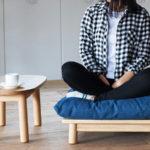 お家カフェのお供に / SVE-ST006 quilt side table