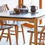 ダイニングテーブル DT-12-150 ウォールナット&オーク / 2トーンがオシャレ