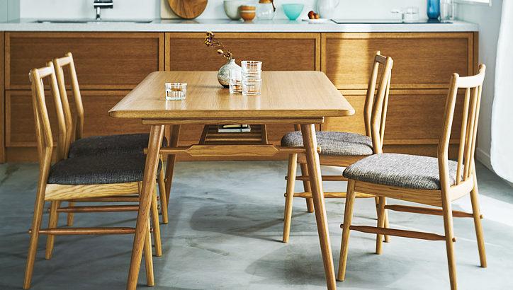 北欧テイストを盛り込んだナチュラルモダンなテーブル | DT-16-N150 ダイニングテーブル