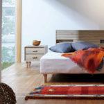 ナチュラル風のベッドサイドテーブル | BA-34 サイドテーブル